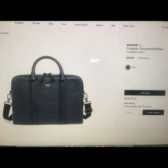 59f405a5b Ted Baker London Bags | Crossgrain Document Briefcase Ted Baker ...